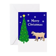 Goats Christmas Greeting Cards (Pk of 10)