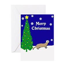 Ferret Christmas Greeting Card