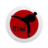 Ryan Karate Ornament (Round)