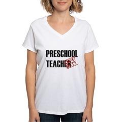 Off Duty Preschool Teacher Women's V-Neck T-Shirt