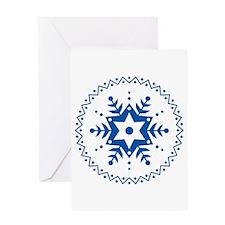 Pennsylvania Dutch Blue Snowflake Greeting Card