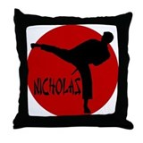 Nicholas Karate Throw Pillow