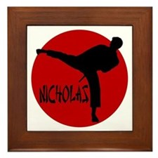 Nicholas Karate Framed Tile