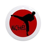 Michael Karate Ornament (Round)