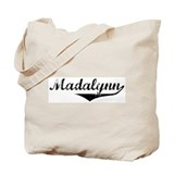 Madalynn Vintage (Black) Tote Bag