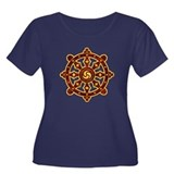 Dharma Wheel 2 Women's Plus Size Scoop Neck Dark T
