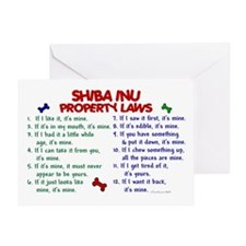 Shiba Inu Property Laws 2 Greeting Card
