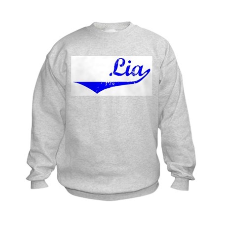Lia Vintage (Blue) Kids Sweatshirt