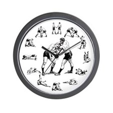 """TIME TO WRESTLE"" Wall Clock"