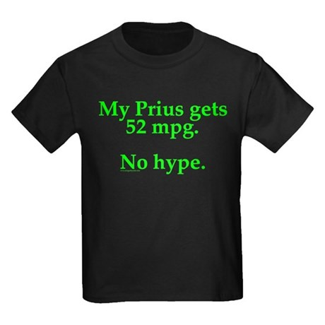 Prius 52 MPG Kids Dark T-Shirt