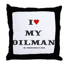I Love My Oilman Throw Pillow