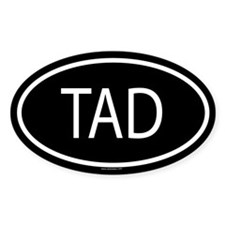 TAD Oval Decal