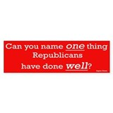 Republican Failure Bumper Sticker - red