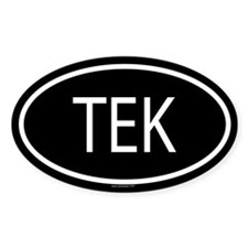 TEK Oval Decal