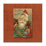 TLK024 Vintage Santas Tile Coaster