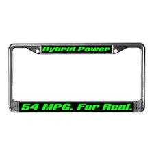 Hybrid Power 54 MPG License Plate Frame