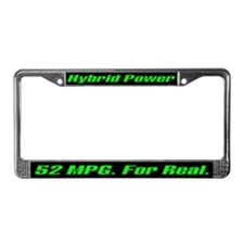 Hybrid Power 52 MPG License Plate Frame