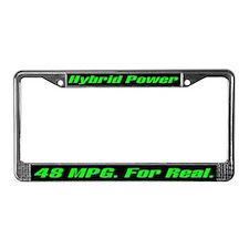 Hybrid Power 48 MPG License Plate Frame