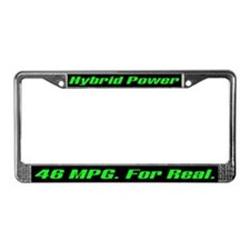 Hybrid Power 46 MPG License Plate Frame