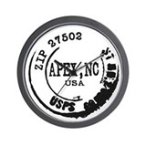 Apex North Carolina 27502 Zip Code Wall Clock