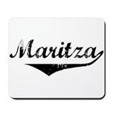 Maritza Vintage (Black) Mousepad