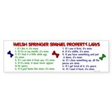 Welsh Springer Spaniel Property Laws 2 Car Sticker