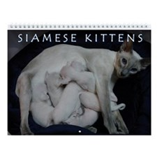 Siamese Kittens Wall Calendar