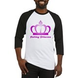Fishing Princess - 3 Baseball Jersey
