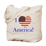 I Love America! Tote Bag