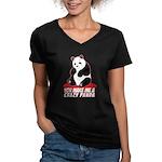 Crazy Panda Women's V-Neck Dark T-Shirt