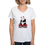 Crazy Panda Women's V-Neck T-Shirt