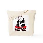 Crazy Panda Tote Bag