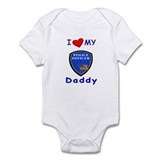 I Love Police Officer Daddy Onesie