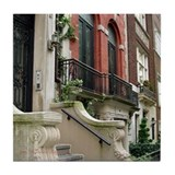Row House in NYC Tile Coaster