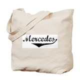 Mercedes Vintage (Black) Tote Bag