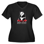 Sexy Panda Women's Plus Size V-Neck Dark T-Shirt