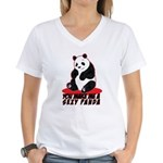 Sexy Panda Women's V-Neck T-Shirt