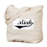 Miah Vintage (Black) Tote Bag