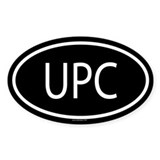 UPC Oval Decal