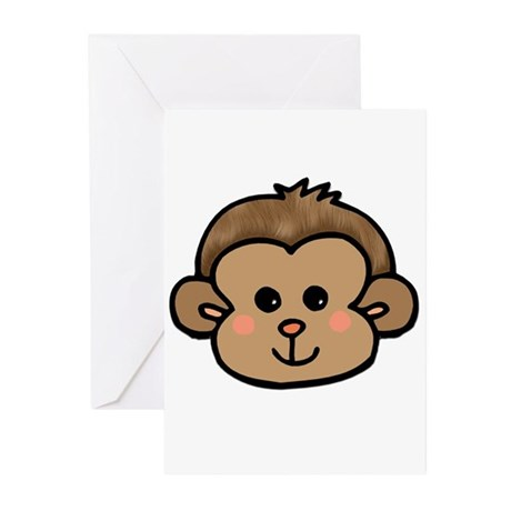 Monkey Face Greeting Cards (Pk of 10)