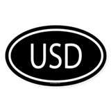 USD Oval Decal