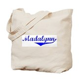 Madalynn Vintage (Blue) Tote Bag