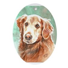 Golden Retriever Oval Ornament