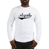 Myah Vintage (Black) Long Sleeve T-Shirt