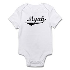Myah Vintage (Black) Infant Bodysuit