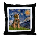 Starry Night / Border Terrier Throw Pillow