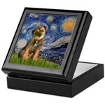 Starry Night / Border Terrier Keepsake Box