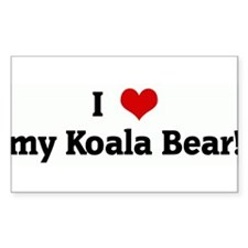 I Love my Koala Bear! Rectangle Stickers