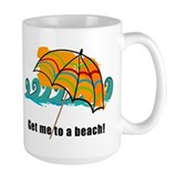 get me to a beach Coffee Mug