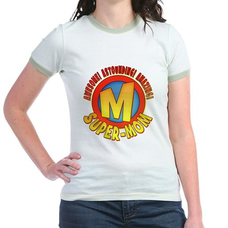 Super Mom Jr. Ringer T-Shirt